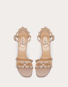 Rockstud Grainy Calfskin Sandal 105 mm