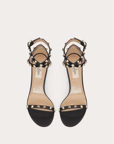 Rockstud Grainy Calfskin Sandal 60 mm