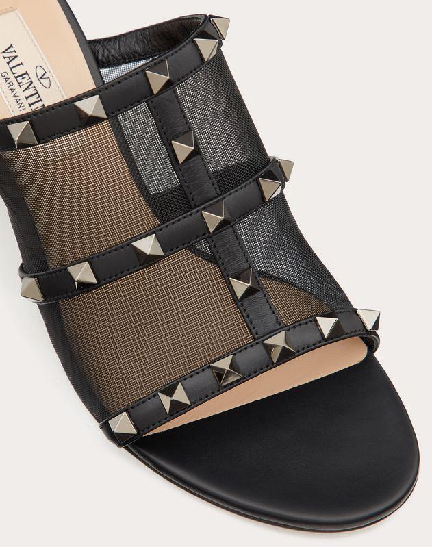 Rockstud Mesh Slide Sandal 60 mm