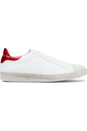 IRO Bast leather and suede sneakers