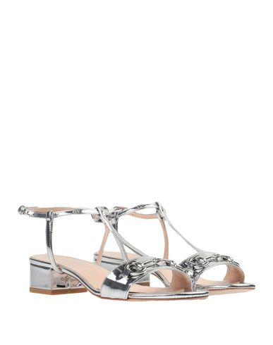 Фото 2 - Женские сандали BIANCA DI серебристого цвета