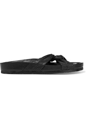 IRO Knoty perforated leather slides