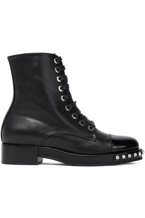 N°21 クリスタル付き レザー ブーツ