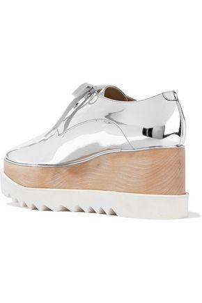 STELLA McCARTNEY Sneak-Elyse faux mirrored-leather platform brogues