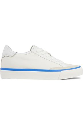 RAG & BONE Army Low suede and leather-trimmed canvas sneakers