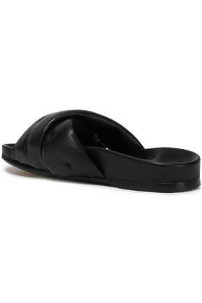 ANYA HINDMARCH Quilted leather slides