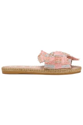 MANEBÍ Knotted metallic tweed espadrille slides