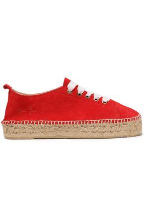 MANEBÍ Suede espadrille sneakers