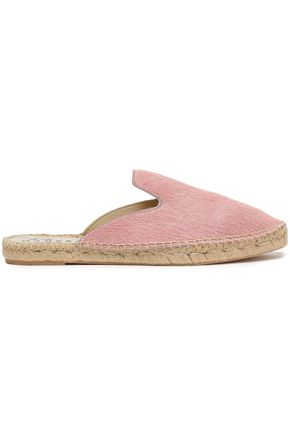 MANEBÍ Cow hair espadrille slippers