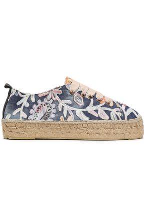 MANEBÍ Paris embroidered denim espadrille sneakers