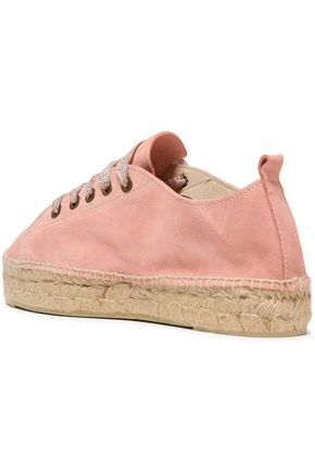 MANEBÍ Lace-up suede espadrilles