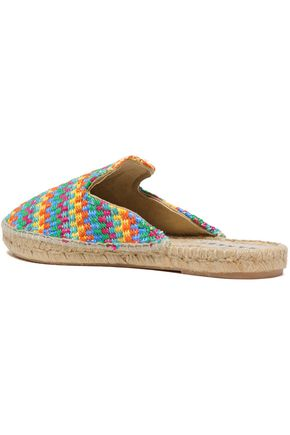 MANEBÍ Woven raffia espadrille slippers