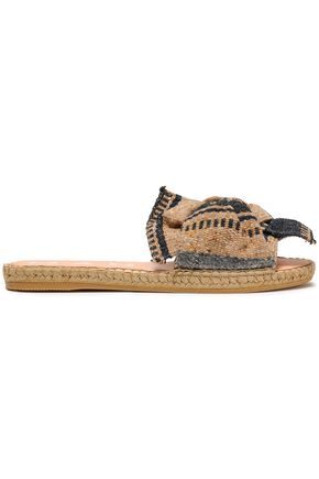 MANEBÍ Knotted woven espadrille slippers