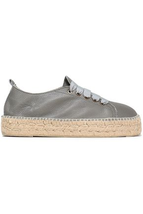 MANEBÍ Canyon pebbled-leather espadrille sneakers