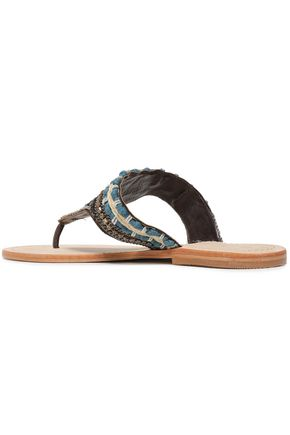 MANEBÍ Embellished leather sandals