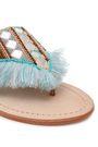 MANEBÍ Embellished frayed leather flip flops