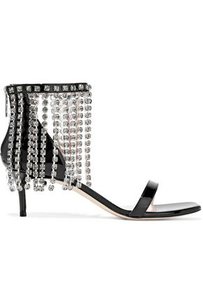CHRISTOPHER KANE Crystal-embellished patent-leather sandals
