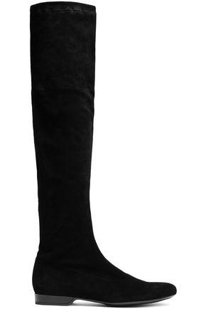 ROBERT CLERGERIE Suede knee boots