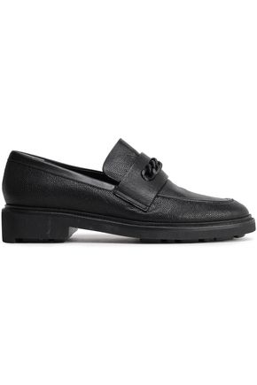 ROBERT CLERGERIE Stingray-effect leather loafers