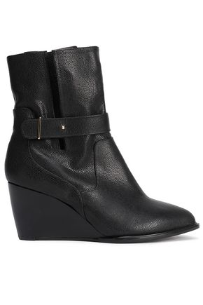 ROBERT CLERGERIE Pebbled-leather ankle boots