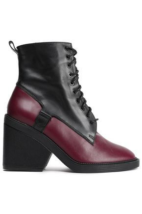 ROBERT CLERGERIE Two-tone leather ankle boots