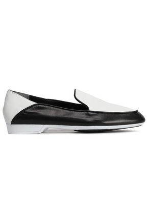 ROBERT CLERGERIE Two-tone leather loafers
