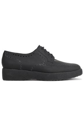 ROBERT CLERGERIE Laser-cut leather brogues