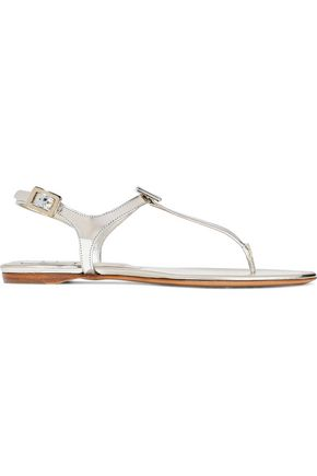 ROGER VIVIER Buckle-embellished leather sandals