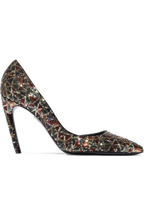 ROGER VIVIER Sequined satin pumps
