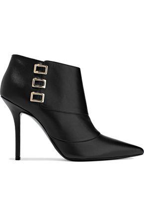 ROGER VIVIER Buckle-embellished leather ankle boots
