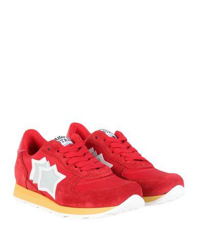 Фото 2 - Низкие кеды и кроссовки красного цвета