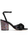MARCO DE VINCENZO Knotted embellished velvet sandals