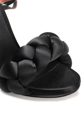 MARCO DE VINCENZO Color-block braided satin sandals