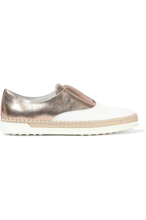 TOD'S Francesina two-tone leather slip-on sneakers