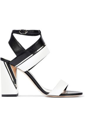 NICHOLAS KIRKWOOD Eva embellished two-tone leather sandals