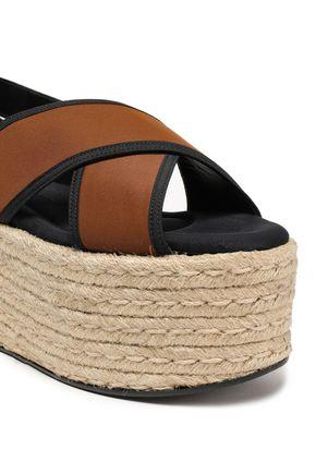MARNI Leather-trimmed scuba platform sandals