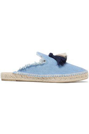 CASTAÑER Tasseled linen espadrille slippers