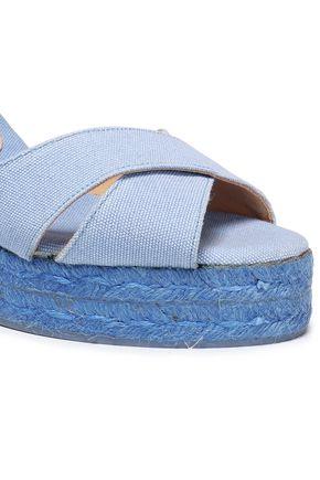CASTAÑER Blaudell cotton-canvas wedge espadrille sandals