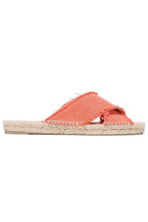 CASTAÑER Frayed canvas slides