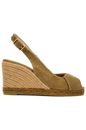 CASTAÑER Brianda twisted canvas wedge slingback espadrilles