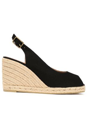 CASTAÑER Beli cotton-canvas wedge slingback espadrilles