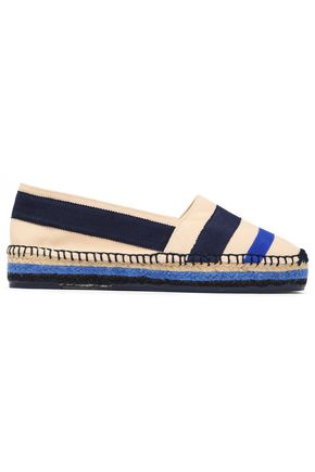 CASTAÑER Grosgrain-trimmed cotton-blend canvas espadrilles
