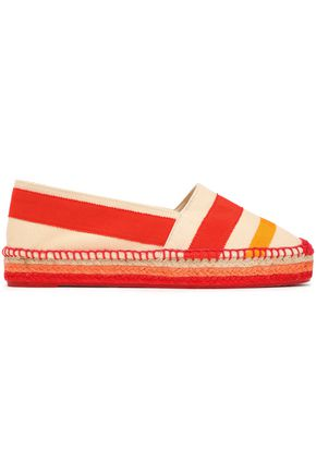 CASTAÑER Kati grosgrain and canvas-paneled espadrilles