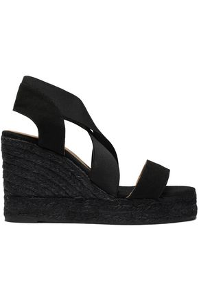 CASTAÑER Bambu bamboo-canvas wedge espadrille sandals