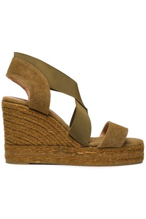 CASTAÑER Bambu canvas espadrille wedge sandals