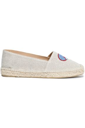 CASTAÑER Kenda embroidered canvas espadrilles