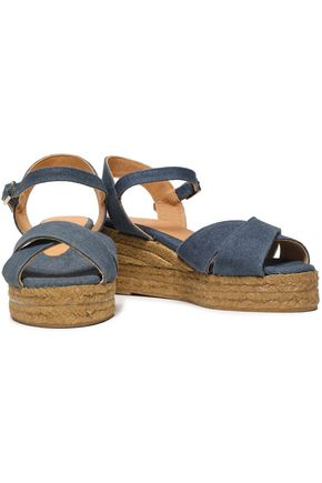 CASTAÑER Canvas platform sandals
