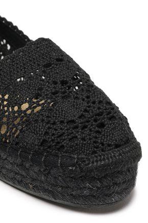 CASTAÑER Crochet cotton espadrilles