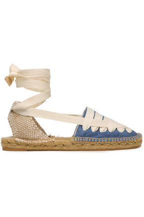 CASTAÑER Jean lace-up canvas espadrilles