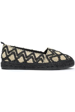 CASTAÑER Kenda embroidered woven cotton espadrilles
